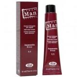 """Безаммиачный Крем-Краситель для Волос """"Lisap Man Color"""" 2 Коричневый, 60 мл"""