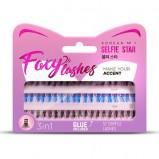 Пучки Foxy Lashes Накладные Черные-Голубые Длина Короткая/Очень Короткая 57 Foxy-Пучков