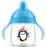 Чашка-Поильник, (260 мл, 12 мес+) Голубой для Детей до 3-х Лет