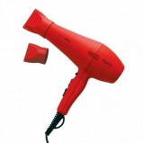 Фен Turbo 3800ST Красный Soft Touch Профессиональный для Укладки Волос