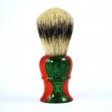 Кисточка Metzger для Бритья из Барсучьего Волоса с Деревянным Оранжево-Зеленым Основанием