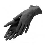 Перчатки Черные без Талька, Размер М (100 шт/упк)