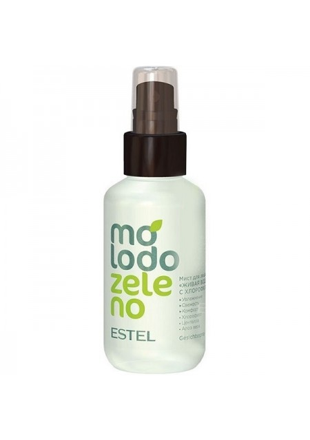 Мист Molodo-Zeleno для Лица Живая Вода с Хлорофиллом, 100 мл