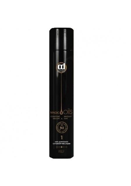 Лак 5 Magic Oils для Волос Сильной Фиксации №1 без Запаха Черный, 400 мл