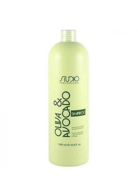 Шампунь Olive and Avocado Увлажняющий для Волос с Маслами Авокадо и Оливы, 1000 мл
